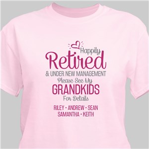 Personalized Happily Retired T-Shirt 317781X