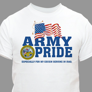Military Pride Personalized T-shirt | Personalized T-shirts