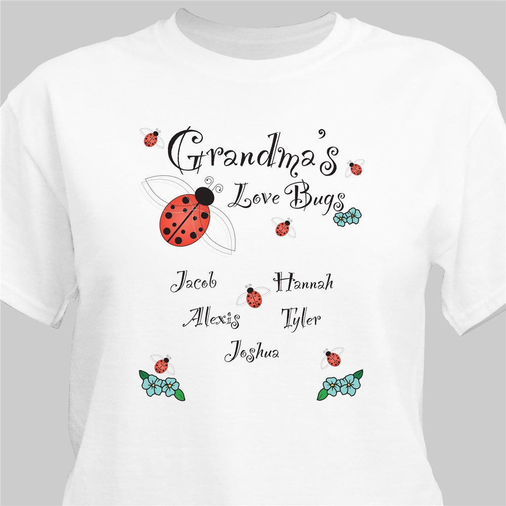 Love Bugs T-Shirt | Personalized Grandma Gifts