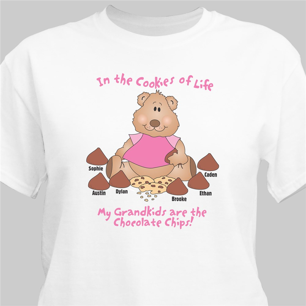 Cookies of Life Personalized T-Shirt | Personalized Shirts For Grandma