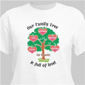 Our Family Tree Personalized T-Shirt | Personalized T-shirts