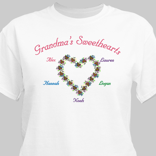 My Sweethearts Personalized T-Shirt | Personalized Grandma Shirts