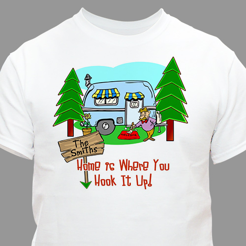 Home is Where You Hook It Up Personalized T-shirt | Personalized T-shirts