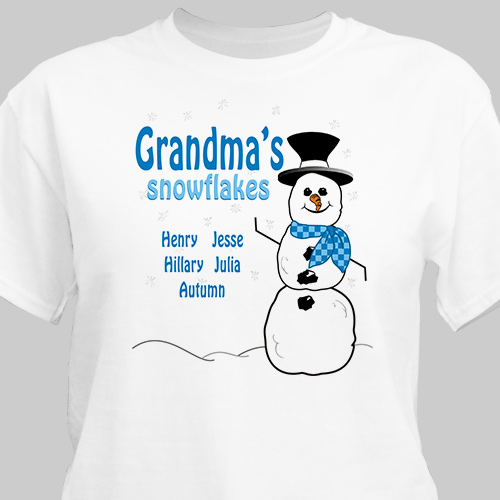 Snowflakes T-Shirt | Personalized T-shirts
