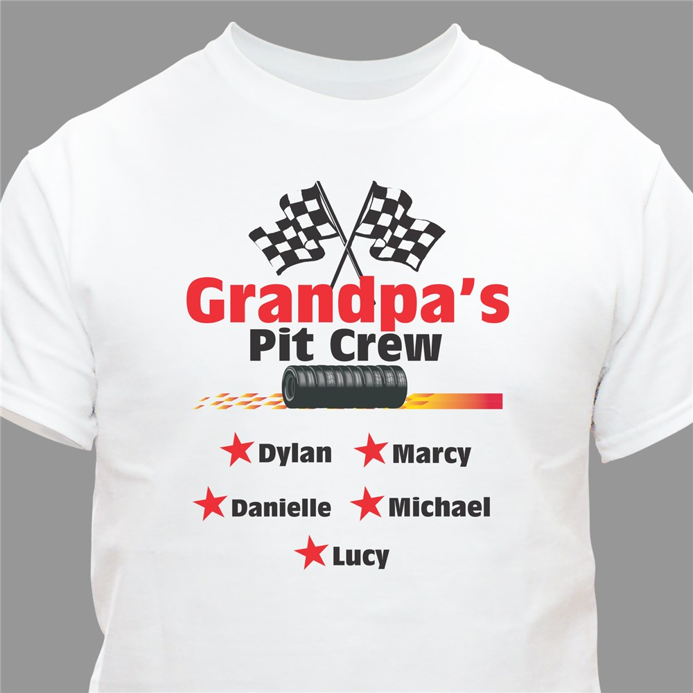 Pit Crew Personalized T-Shirt | Dad Shirt