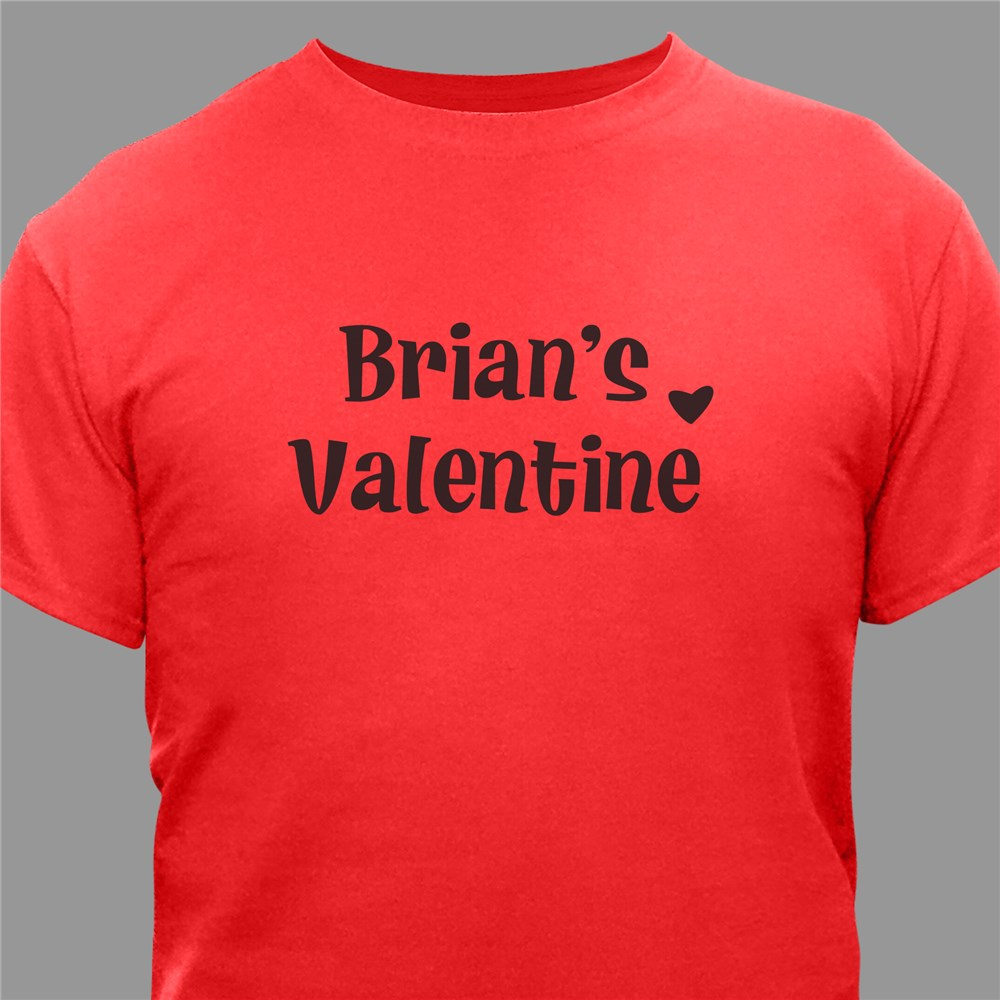 Personalized Valentine Adult T-shirt | Personalized T-shirts