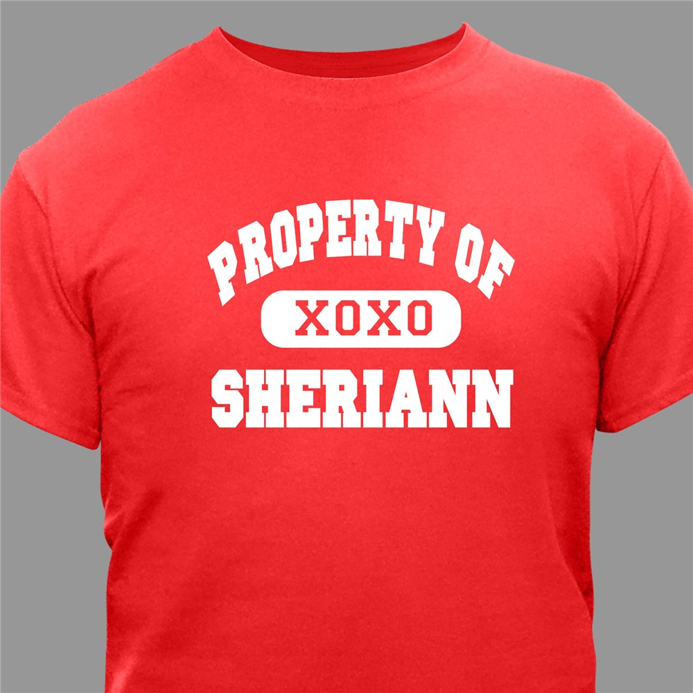 Property of My Valentine Personalized T-shirt | Personalized Shirts For Him