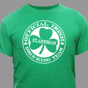 Irish Drinking Team Personalized T-Shirt | St. Patrick's Day Shirts