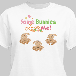 Some Bunnies Love Me Personalized T-Shirt | Easter Shirts For Adults