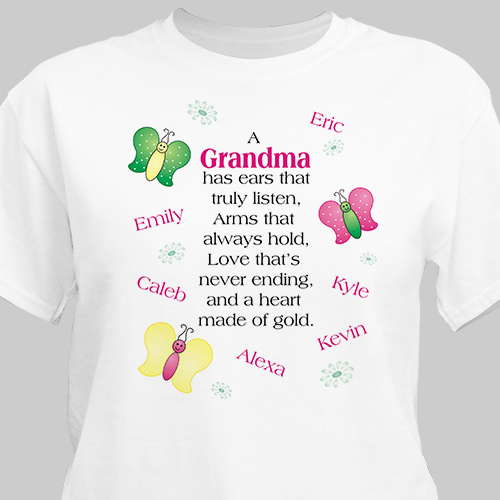 Made of Gold Personalized T-shirt | Personalized Grandma Shirts