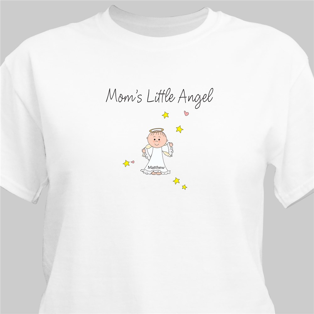 Little Angels Personalized T-Shirt | Personalized Grandma Shirts