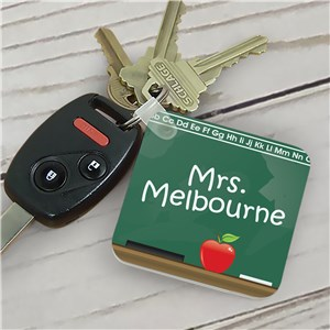 Teacher Key Chain Chalkboard Design | Personalized Teacher Gifts
