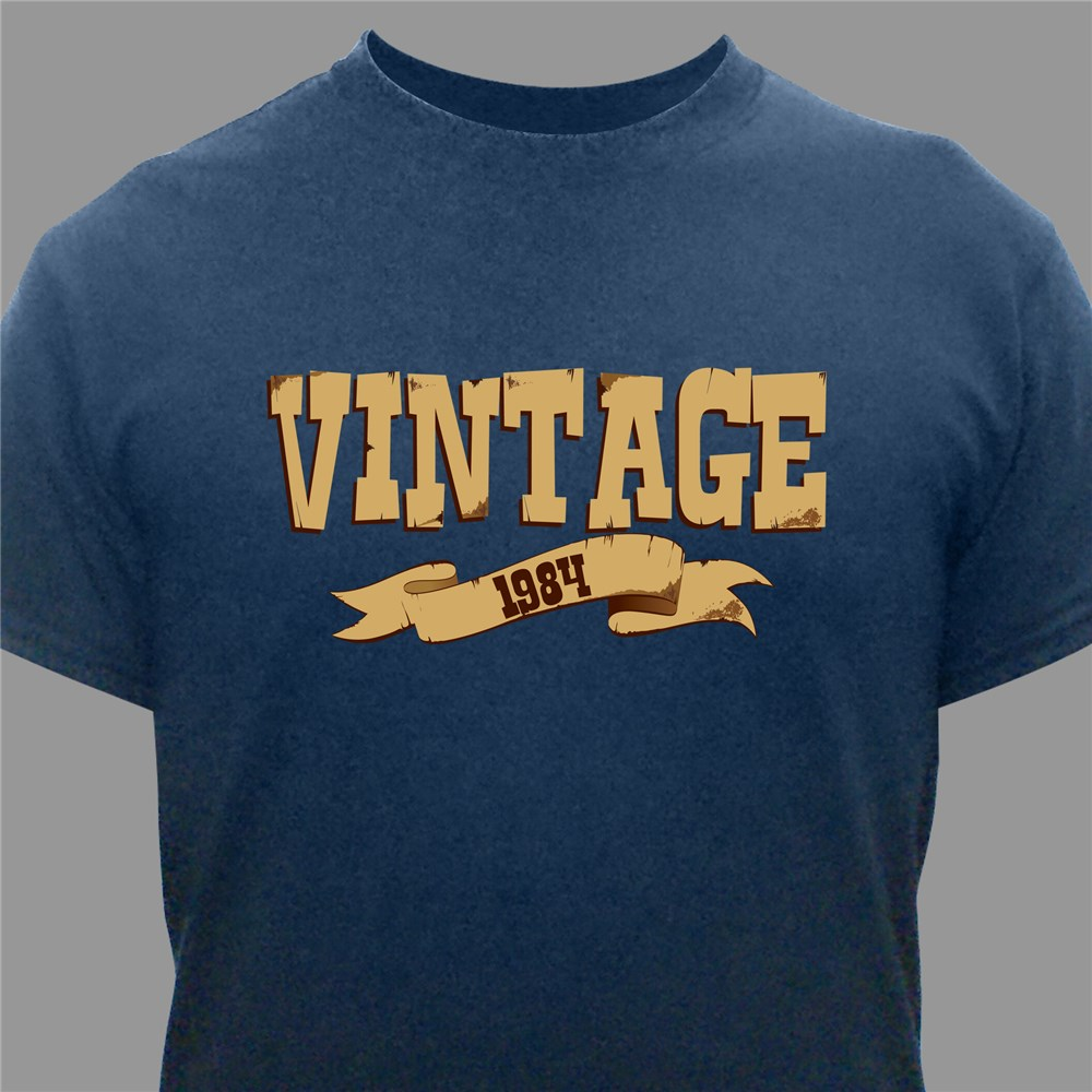 Vintage Personalized Birthday T-Shirt | Personalized T-shirts