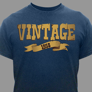 Vintage Personalized Birthday T-Shirt