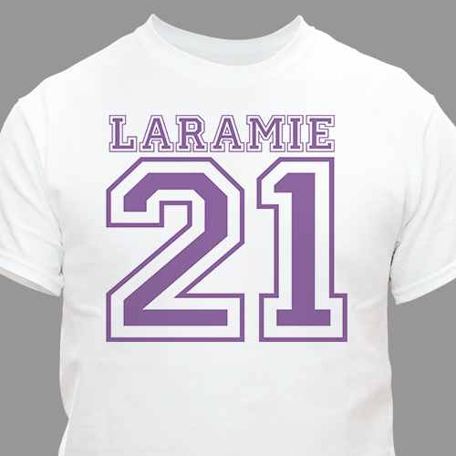 Sports Personalized 21st Birthday T-Shirt | Personalized T-shirts