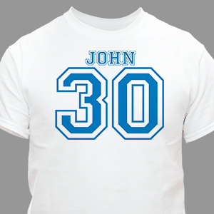 Sports Personalized 30th Birthday T-Shirt | Personalized T-shirts