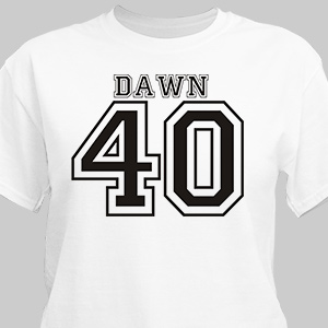Sports Personalized 40th Birthday T-Shirt | Personalized T-shirts