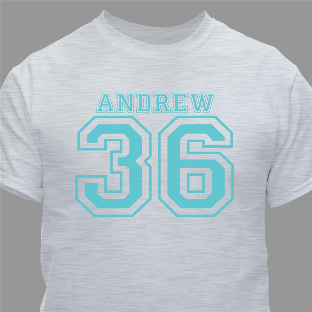 Sports Personalized 60th Birthday T-Shirt | Personalized T-shirts