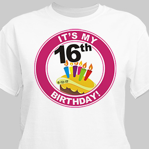 It's My Birthday Personalized Birthday T-Shirt | Personalized T-shirts