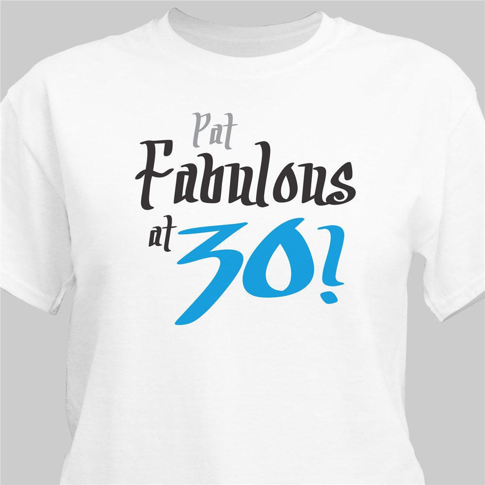 Fabulous Personalized 40th Birthday T-Shirt | Personalized T-shirts