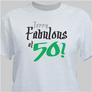 Fabulous Personalized 50th Birthday T-Shirt | Personalized T-shirts