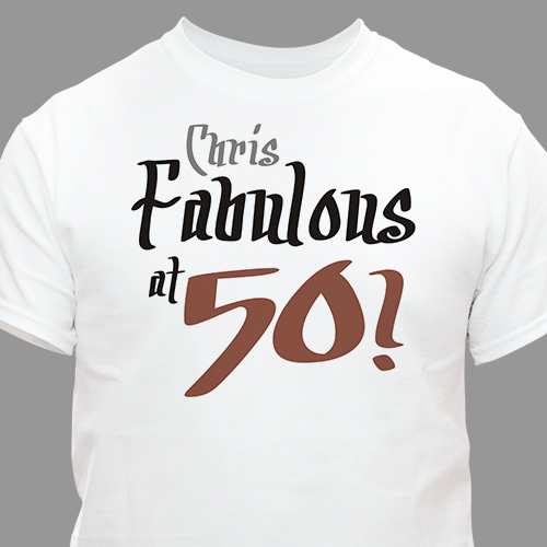 Fabulous Personalized 50th Birthday T-Shirt