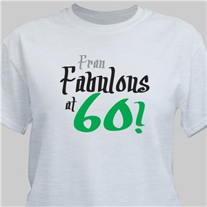 Fabulous Personalized 60th Birthday T-Shirt | Personalized T-shirts