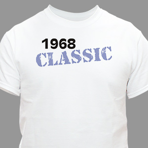 Classic Personalized Birthday T-Shirt