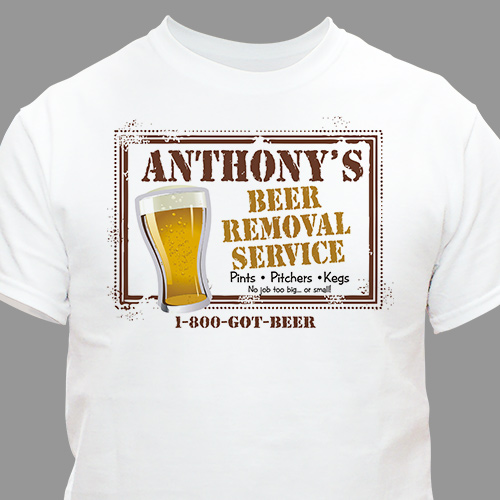 Beer Service Personalized T-Shirt | Personalized T-shirts