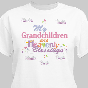 Heavenly Blessings Personalized Shirts | Personalized Grandma Gifts