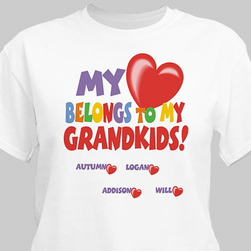 My Heart Belongs To Personalized T-shirt