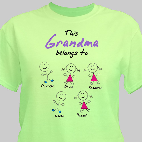 Belongs To Personalized T-Shirt | Grandma Gifts