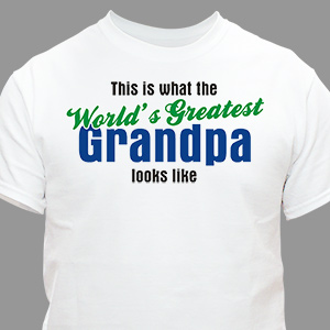 World's Greatest Personalized T-Shirt | Grandpa Gifts