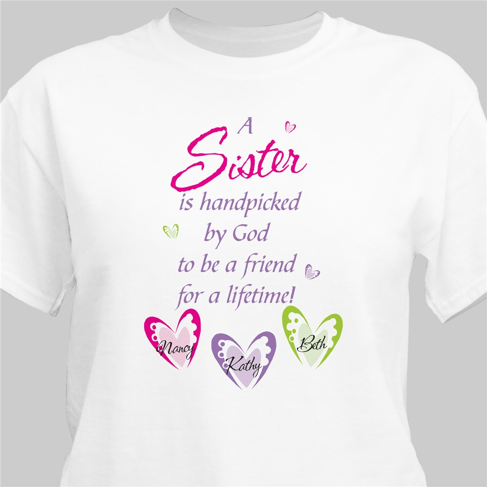 Personalized Sister T-Shirt | Sister Gifts