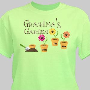 Garden T-Shirt | Personalized Grandma T Shirts