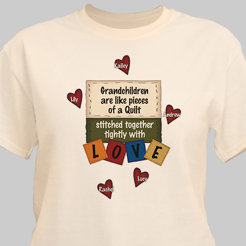 Stitched Together Quilting Personalized Quilters T-Shirt | Personalized Grandma Shirts