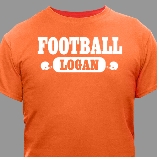 Football Fan Personalized Sports T-shirt | Personalized T-shirts