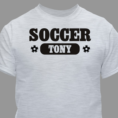 Soccer Fan Personalized Sports T-shirt | Personalized T-shirts