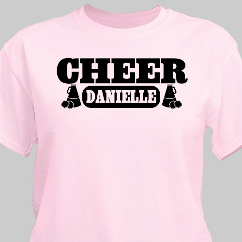 Cheerleader Personalized Sports T-shirt | Personalized T-shirts