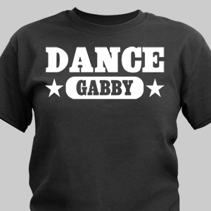 Dance Personalized Sports T-shirt | Personalized T-shirts