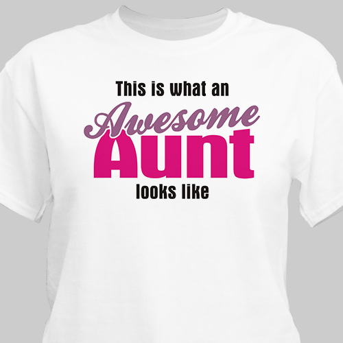Awesome Aunt Personalized T-Shirt
