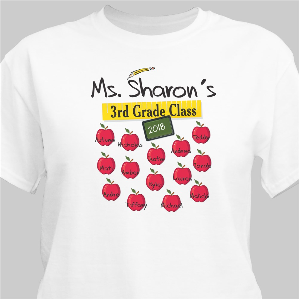 Teachers Class Teacher T-shirt | Personalized Teacher