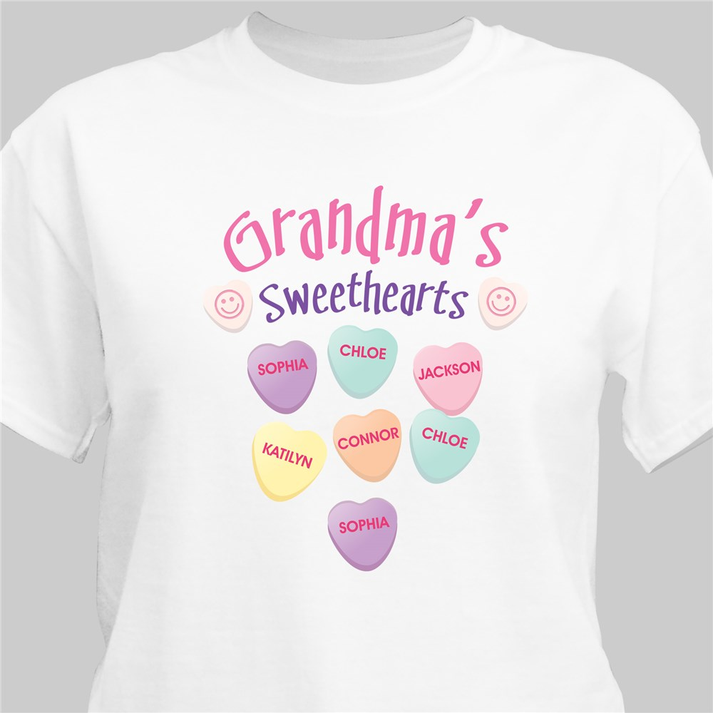 Sweethearts Candy T-Shirt | Personalized Grandma Shirts