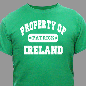 Property of Ireland Personalized T-shirt | Personalized T-shirts