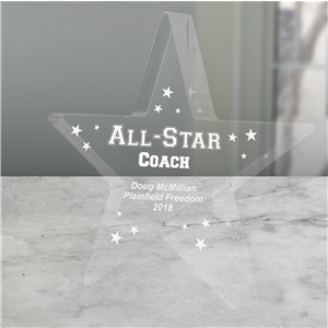 Personalized All-Star Coach Keepsake | Personalized