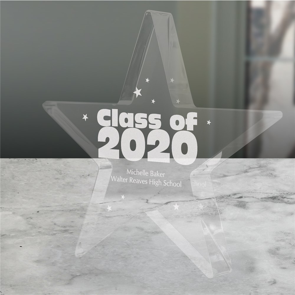 Personalized Class of Star Keepsake | Graduation Keepsake Gifts