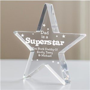 Personalized SuperStar Keepsake | Fathers Day Gifts