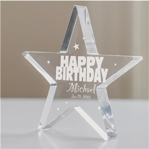 Personalized Happy Birthday Star Keepsake