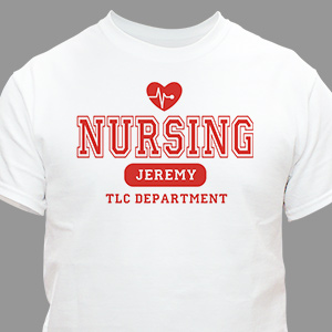 Nursing TLC Personalized Nurse T-Shirt | Personalized T-shirts