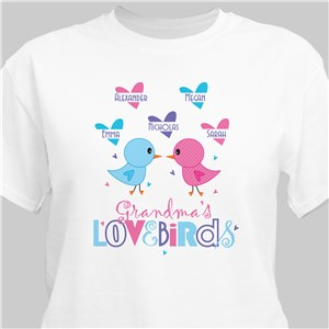 Love Birds Personalized T-Shirt | Personalized Shirts
